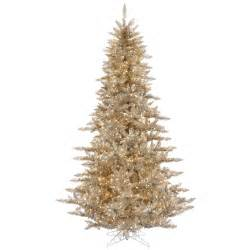 4 Ft Pre Lit White Christmas Tree by 3 Foot Slim Champagne Fir Christmas Tree Clear Lights