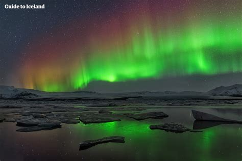 can you see the northern lights in iceland in june northern lights at jökulsárlón glacier lagoon guide to