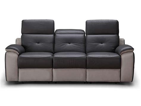 conforama canapé relax canapé fixe relaxation électrique 3 places en tissu