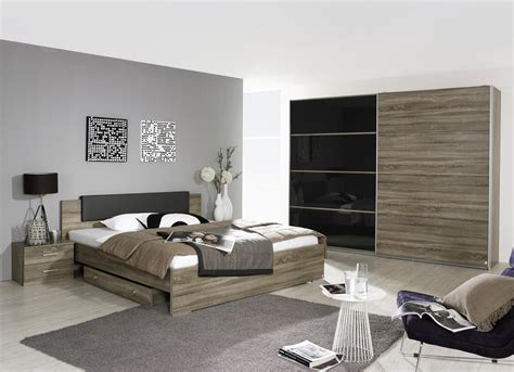 chambre adulte contemporaine chêne basalt maine