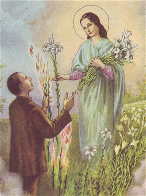 saint maria goretti lily  virtue courage  holiness