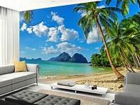 beach wall murals 3D Beach Palm Tree Tropical Full Wall Mural Photo ...