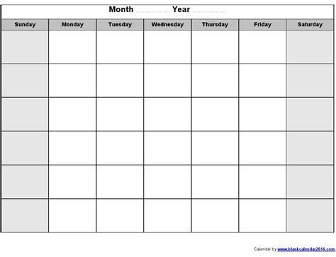 monthly calendar printable monthly calendar template