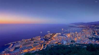 Monaco Sunset Wallpapers Cityscape Dusk Desktop Backgrounds