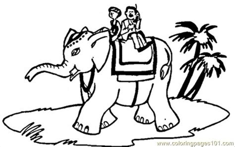 ride  elephant coloring page  africa coloring