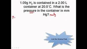 Ideal Gas Law Practice - Chemistry Gas Laws