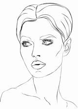 Coloring Makeup Wajah Sketsa Gambar Face Poto Comments Tools Perempuan sketch template