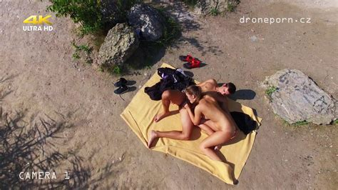 Nude Beach Sex Voyeurs Video Taken By A Drone