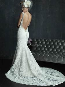 the wedding gown lavish wed With lace backless wedding dress