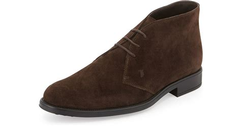 tods suede lace  chelsea boot  brown  men lyst