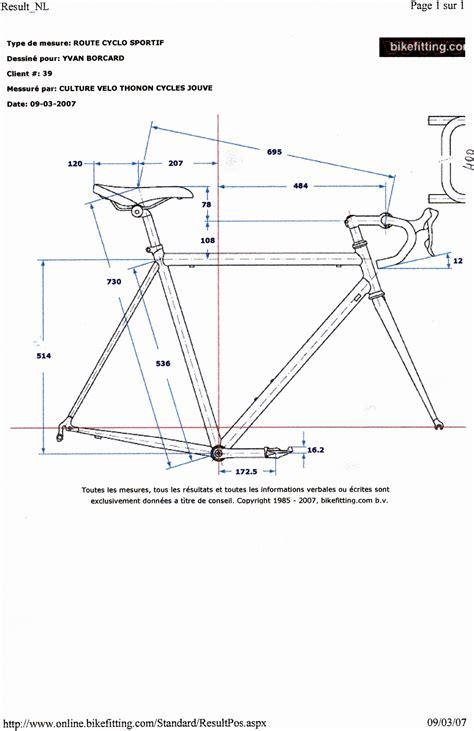 mesure cadre velo route forum cyclisme vtt ski alp taille du cadre 1 1