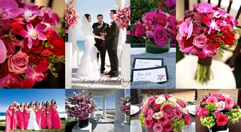 february wedding color schemes 2018 pink shades