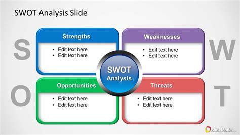 colorful swot analysis diagram  powerpoint slidemodel