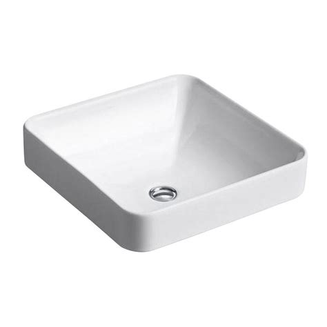 home depot white vessel sink kohler vox vitreous china vessel sink in white with