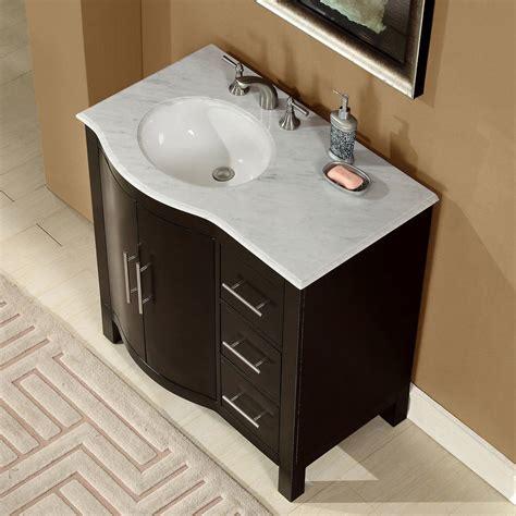 vanity with sink accord 36 inch contemporary single sink bathroom vanity