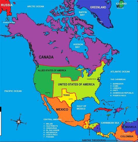 map  north america continent israa miraj net