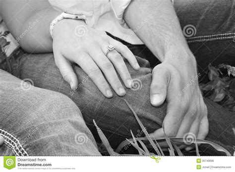 Couple With Engagement Ring Royalty Free Stock Image