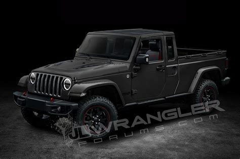 2018 jeep wrangler pickup 2018 jeep wrangler two door pickup truck rendering 02