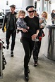 Anna Paquin and Stephan Moyer at the airport with their ...