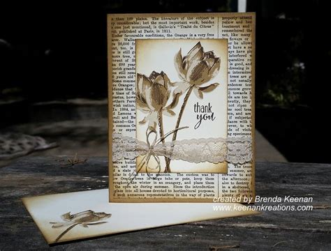 Create A Vintage Look For Your Cards With Sponging