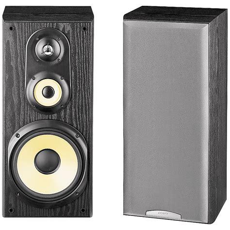 sony bookshelf speakers sony ss mb350h 3 way bookshelf speakers music123