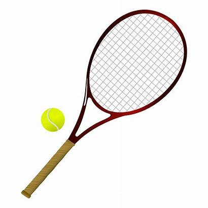 Tennis Clipart Sports Items Racket Ball Different
