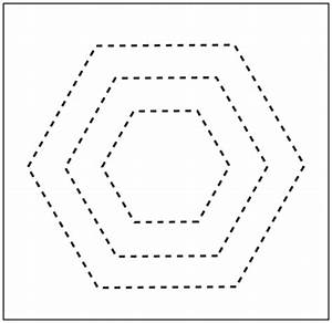 Free printable quilting hexagon shape for Hexagon templates for quilting free