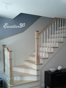 Escalier Bois Blanc : construction d 39 escalier avec barreaux en bois ~ Melissatoandfro.com Idées de Décoration