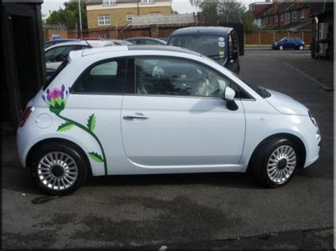 Fiat 500 Graphics by Fiat 500 Tulip Car Graphics Vinyl Creations