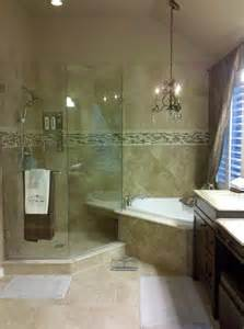 Master Bath with Corner Tub and Shower