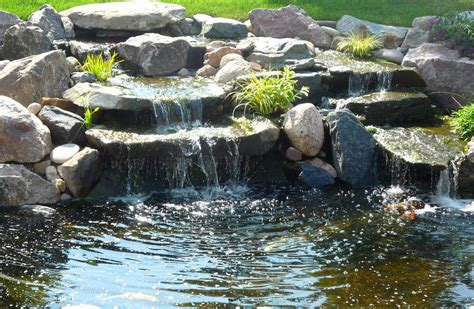 pond with waterfall beautiful garden pond waterfalls design ideas