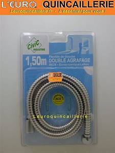 Flexible De Douche : flexible de douche inox double agrafage tuyau 1 50 m tre ~ Premium-room.com Idées de Décoration