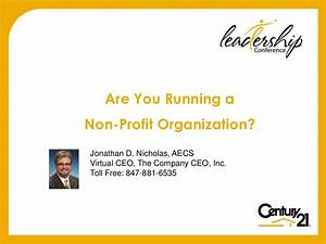 Are You Running A Non Profit Organization - Century 21 ...