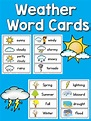 Weather Picture-Word Cards - PreKinders