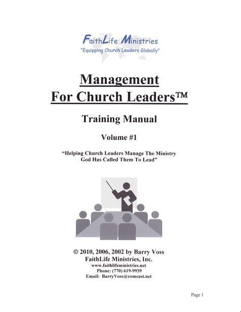 church managment training