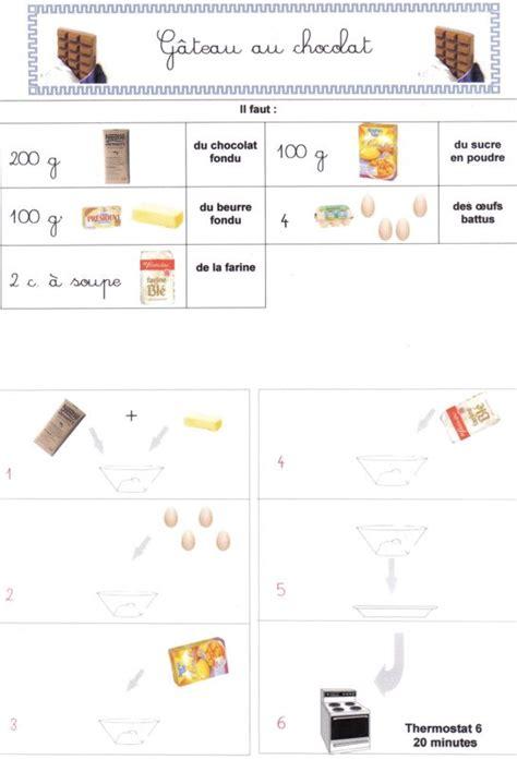 cuisine en maternelle gâteau au chocolat recettes en images le