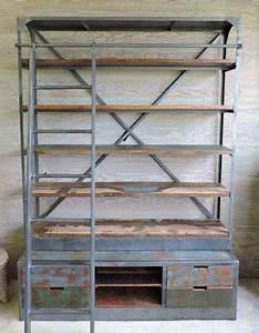 Etagere Style Industriel : les meubles neufs 62 ~ Nature-et-papiers.com Idées de Décoration