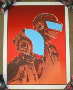 DAFT PUNK concert tour poster Discovery flood gallery red ...