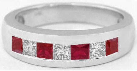 s princess cut ruby and wedding band in 14k mr 5012