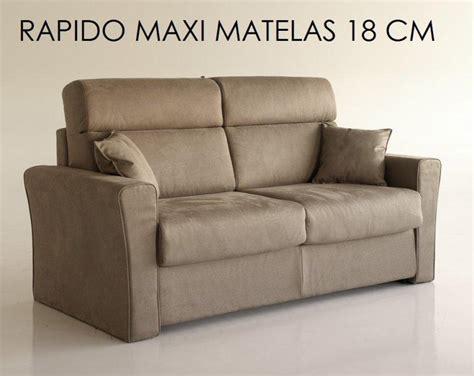 canapé lit rapido canape systeme rapido longo convertible 140 195cm matelas 18cm dossier haut