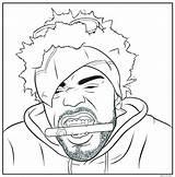Coloring Hop Hip Pages Rappers Rap Gangsta Rapper Gangster Print Tumblr Drawing Printable Method Man Sheets Bun Books Drawings Jumbo sketch template