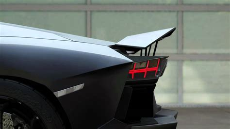 Lamborghini Aventador Rear Spoiler by Lamborghini Mechanical Spoiler
