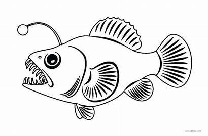 Fish Coloring Fishing Pages Angler Printable Boat