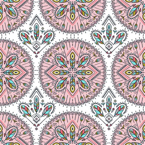 moroccan design tiles vector seamless pattern with ethnic arrows feathers and