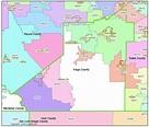 Kings County, CA Zip Codes - Hanford, CA Zip Code Boundary Map
