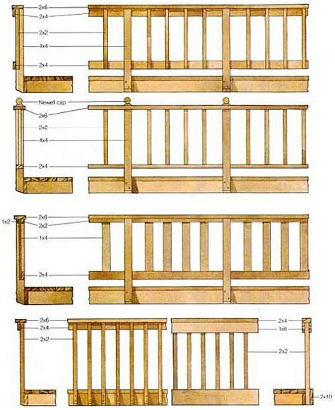 wood deck railing ideas  pinterest deck railings porch railings  deck balusters