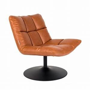Fauteuil Pivotant Cuir : fauteuil fa on cuir pivotant lounge bar dutchbone ~ Teatrodelosmanantiales.com Idées de Décoration