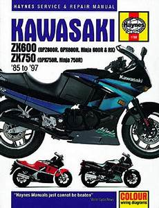 Kawasaki Zx600 Zx 750 Haynes Repair Manual  1985