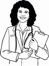 Doctor Drawing Female Coloring Pages Drawings Getdrawings Anatomy Clipartmag Paintingvalley sketch template