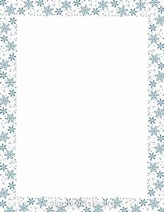 Holiday Snowflake Border Clip Art (30+)